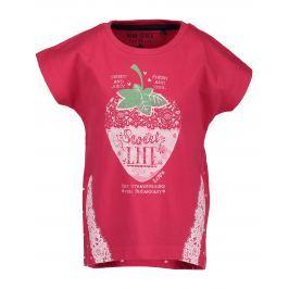 Blue Seven Dívčí tričko s jahůdkou - červené