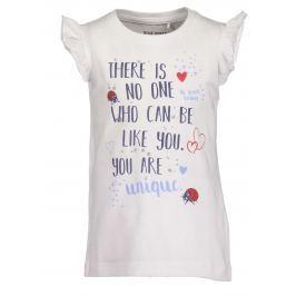 Blue Seven Dívčí tričko s potiskem - bílé