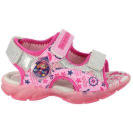 Disney by Arnetta Dívčí sandály Paw Patrol - růžové