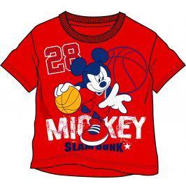 Disney by Arnetta Chlapecké tričko Mickey Mouse - červené