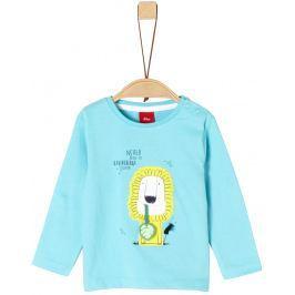 s.Oliver Chlapecké tričko se lvem - světle modré