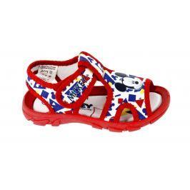 Disney by Arnetta Chlapecké sandále Mickey Mouse - červené