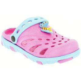 V+J Dívčí sandály s motýlkem - růžové