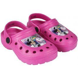 Disney Brand Dívčí sandály Minnie - tmavě růžové