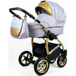 Sun Baby Kombinovaný kočárek 3v1 Raf-pol Gold LUX silver