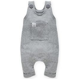 Pinokio Dětské kalhoty s laclem Wild Animals - šedé