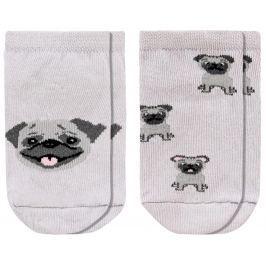 Garnamama Dětský set 2ks ponožek - šedý