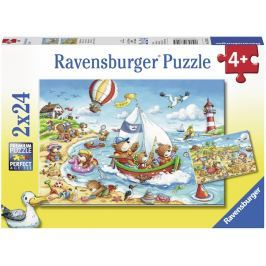 Ravensburger Dovolená u moře 2x24 dílků