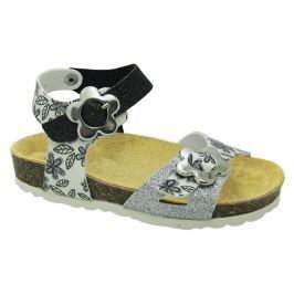 Canguro Dívčí sandály - stříbrno-černé