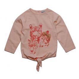 Gelati Dívčí tričko se zvířaty - světle červené
