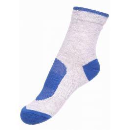 ALPINE PRO Chlapecké ponožky RAPID 2 - šedo-modré