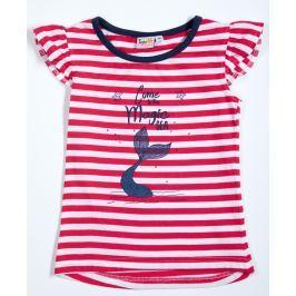 Topo Dívčí pruhované tričko - červeno-bílé