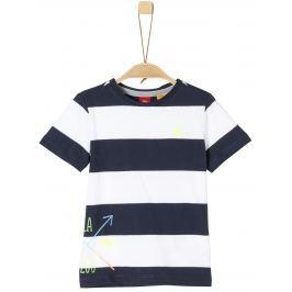 s.Oliver Chlapecké pruhované tričko - modro-bílé