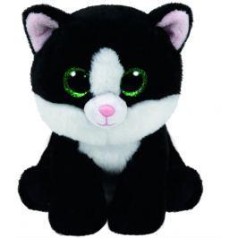 TY Beanie Babies 24 cm AVA, černo-bílá kočka
