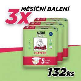 Muumi MAXI+ 10-16 kg size 5, měsíční balení eko plen - 132ks