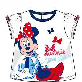 Disney by Arnetta Dívčí tričko Minnie - bílé