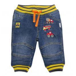 Gelati Chlapecké džínové kalhoty s autíčky - modré