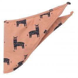Pinokio Dětský šátek Happy Llama - hnědý