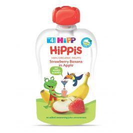 HiPP BIO 100% ovoce Jablko-Banán-Jahoda 6 x 100 g