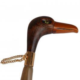 Walking sticks Obouvací lžíce plastová s dřevěnou hlavou ptáka 4042