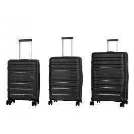 Travelite Travelite Kosmos 4w S,M,L Black – sada 3 kufrů