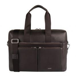 JOOP! Pánská kožená taška Pandion 4140004471 - tmavě hnědá
