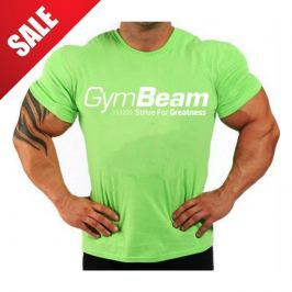 GymBeam Tričko Greatness Lime Green White - S