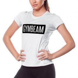 GymBeam Dámske tričko Box Logo White Black - XS