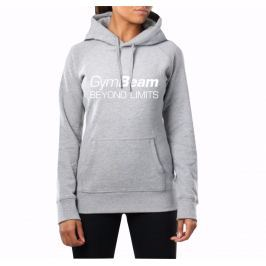 GymBeam Dámska mikina Beyond Limits Grey White - S