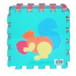 Wiky Měkké puzzle bloky zvířata 30x30 cm
