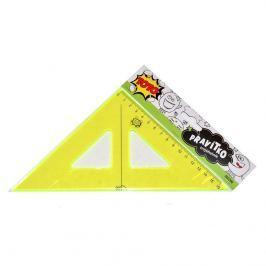 Pravítko trojúhelník neon