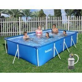 Bazén Bestway s konstrukcí 2,59 x 1,70 x 0,61m písková filtrace 2m3/hod