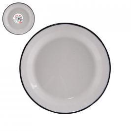 Talíř smalt mělký bílý 24 cm  ORION