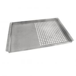 Plech grilovací nerez děrovaný/plný 40x26x1,5 cm ORION