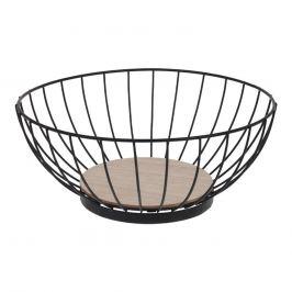 Košík na ovoce kov/dřevo pr. 28 cm ORION