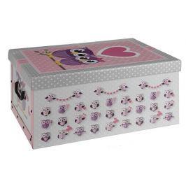 EXCELLENT Úložný box dekorativní sovy růžový KO-M30500360ruzo