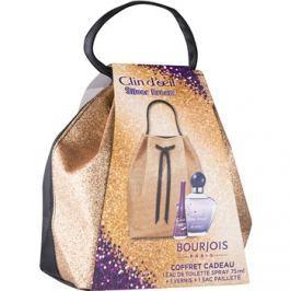 Bourjois Clin d'Oeil Silver Dream dárková sada I.  toaletní voda 75 ml + lak na nehty 9 ml + kosmetická taška 1 ks