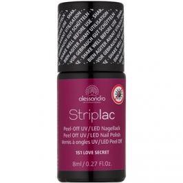 Alessandro Striplac slupovací UV/LED lak na nehty odstín 151 I Love Secret 8 ml