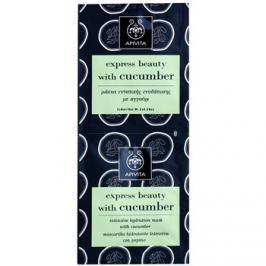 Apivita Express Beauty Cucumber intenzivní hydratační pleťová maska  2 x 8 ml