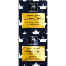 Apivita Express Gold Royal Jelly zpevňující a regenerační pleťová maska  2 x 8 ml