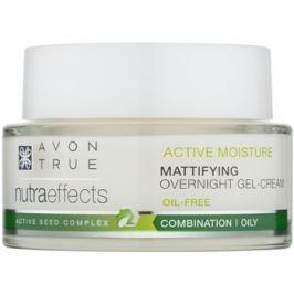 Avon True NutraEffects matující noční gelový krém s nemastným složením  50 ml