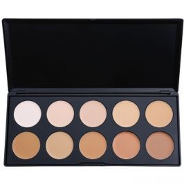 BHcosmetics 10 Color paleta korektorů a make-upu  20 g