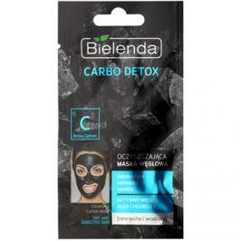 Bielenda Carbo Detox Active Carbon čisticí maska s aktivním uhlím pro suchou až citlivou pleť  8 g