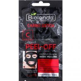 Bielenda Carbo Detox Active Carbon slupovací pleťová maska s aktivním uhlím pro smíšenou a mastnou pleť  2 x 6 g