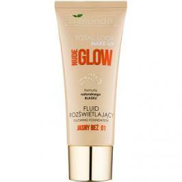 Bielenda Total Look Make-up Nude Glow rozjasňující fluidní make-up odstín Light Beige 01 30 g
