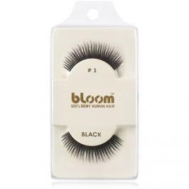 Bloom Natural nalepovací řasy z přírodních vlasů No. 1 (Black) 1 cm