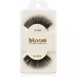 Bloom Natural nalepovací řasy z přírodních vlasů No. 100 (Black) 1 cm