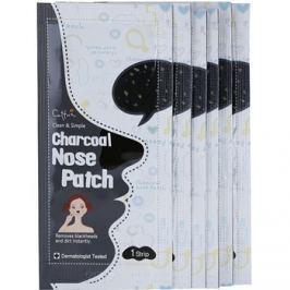 Cettua Charcoal čisticí náplast na zanešené póry na nose  6 ks