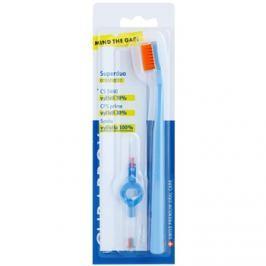 Curaprox 5460 Ultra Soft Superduo zubní kartáček + náhradní mezizubní kartáčky s držákem