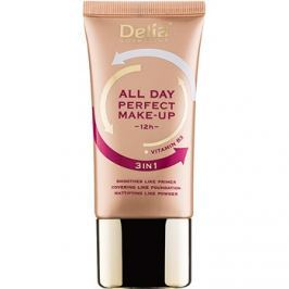 Delia Cosmetics All Day Perfect make-up 3 v 1 odstín 01 Warm Beige 30 ml